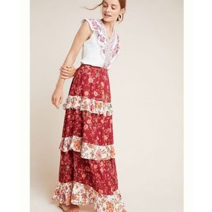 NWT ANTHRO | Tiered Maxi Skirt